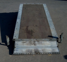 Three Axle Tilting Flatbed Car Transporter Trailer - click to enlarge