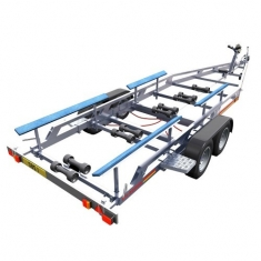 Powerboat Bunk Support Trailer - click to enlarge